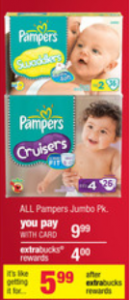 CVS Diapers 129x300 CVS: Pampers Jumbo Pack Diapers $3.99 (Starts 12/2)