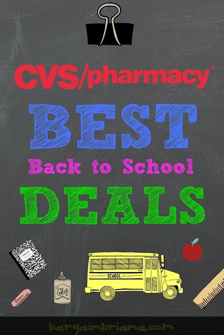 CVS Pharmacy Best Back to School Deals