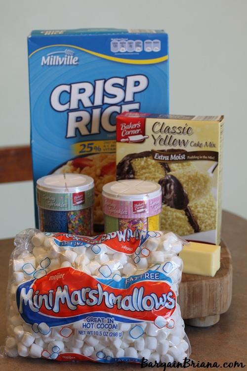 Cake Batter Rice Krispies Ingredients
