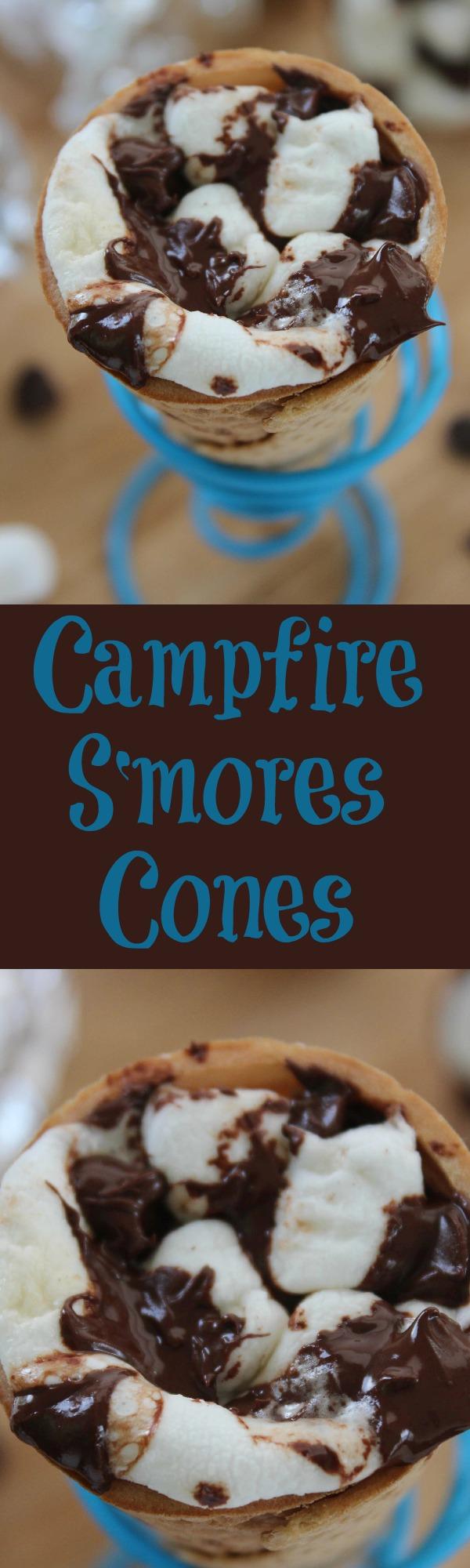 Campfire Smores Cones - Great twist on smores