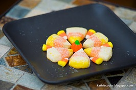 Candy Corn Sugar Cookies Inexpensive Halloween Food and Treat Ideas