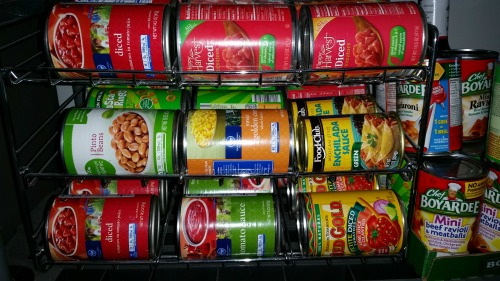 Canned Goods in Our Garage