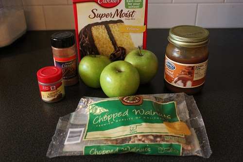 Caramel Apple Cupcakes Ingredient List