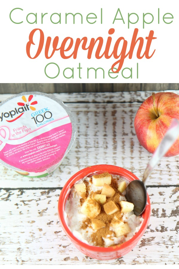 Caramel Apple Overnight Oatmeal Recipe - Easy