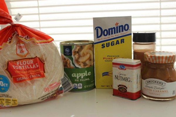 Caramel Apple Taquitos Ingredients