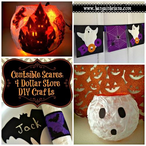 Centsible Scares - 4 Dollar Store DIY Crafts