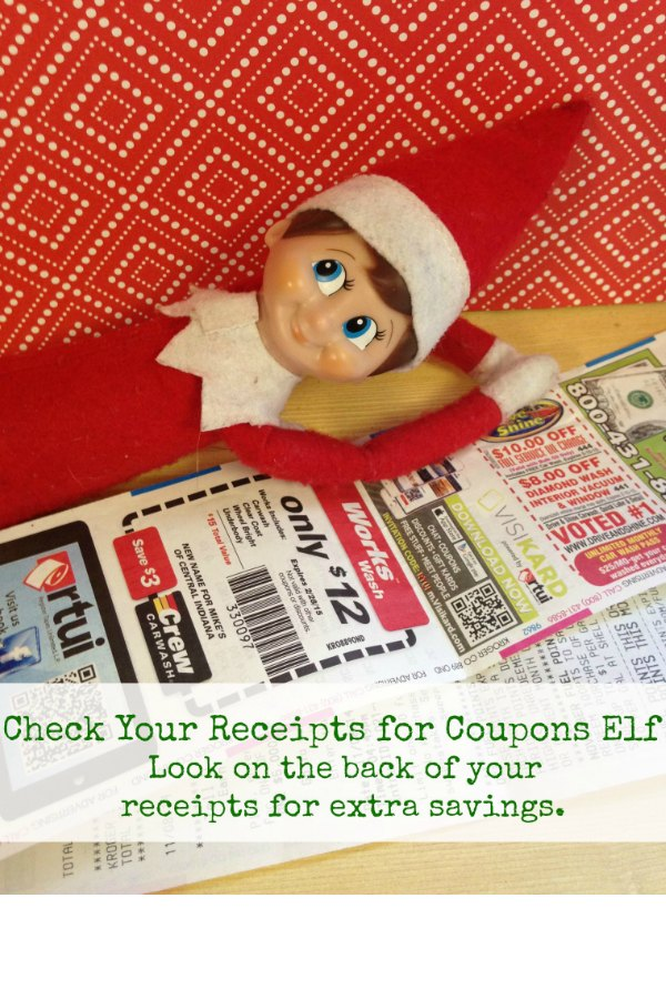 Check Your Receipts for Coupons Elf via Bargain Briana