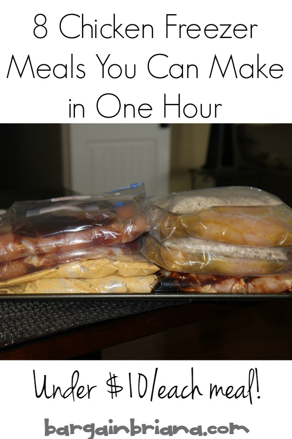 Chicken Freezer Meals to Make in One Hour
