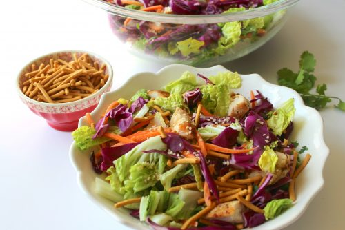 Asian chicken salad - healthy low carb