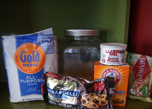 Choclate Chip Gift in a Jar Ingredients