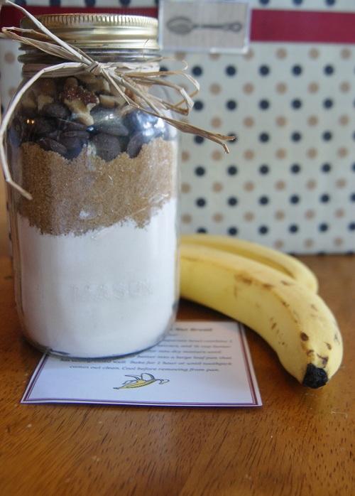 Chocolate Chip Banana Nut Bread Jar Gift Idea