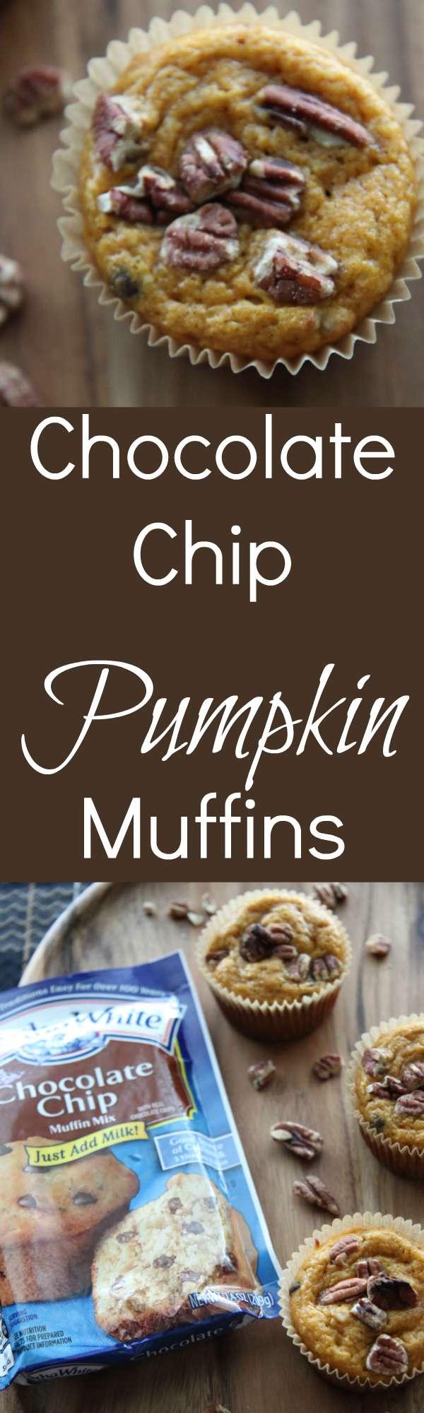 Chocolate Chip Pumpkin Muffins Made with Martha White