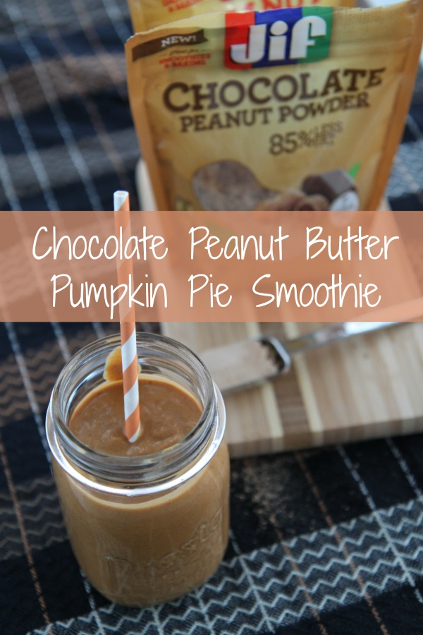 Chocolate Peanut Butter Pumpkin Pie Smoothie Recipe Using Chocolate Peanut Powder