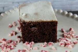 Chocolate Peppermint Poke Cake :: Made with Splenda