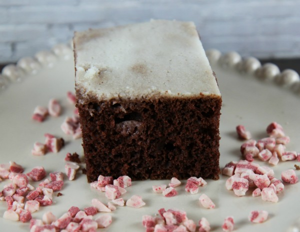 Chocolate Peppermint Poke Cake