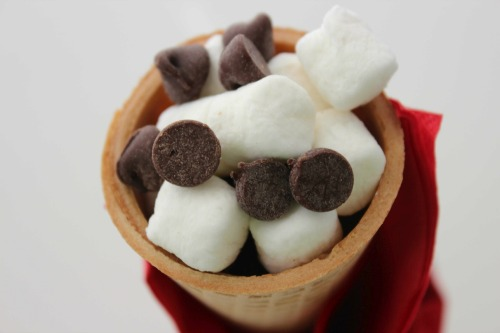 Chocolate and Marshmallow Cones - Delicious