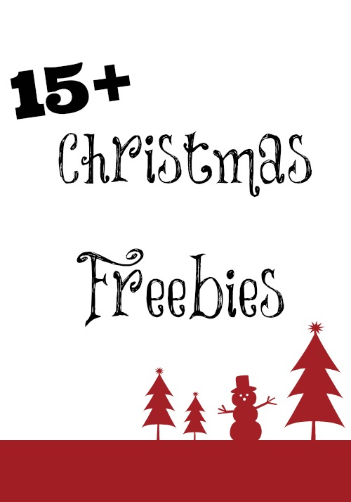 15+ Christmas Freebies