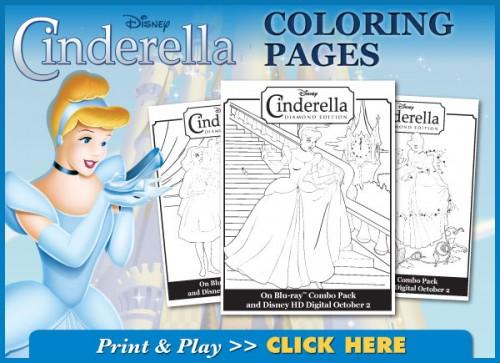 Free: Cinderella Coloring Book (PDF)