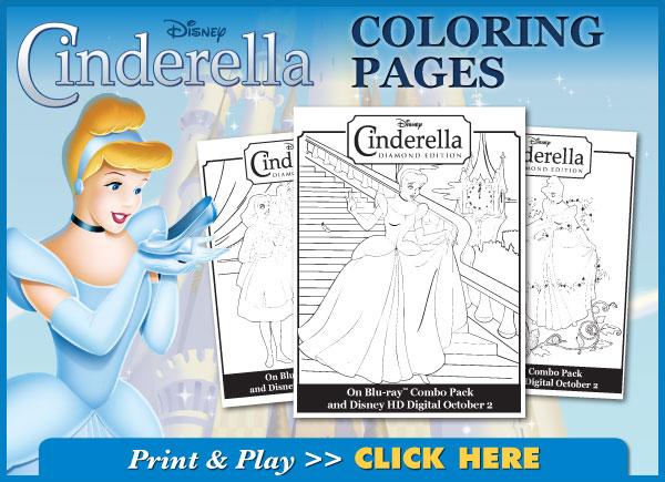 Free Cinderella Coloring Book PDF