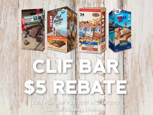 Clif Bar $5 Rebate at Sam's Club