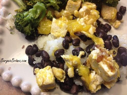 Coconut Mango Tofu w/Black Beans & Rice