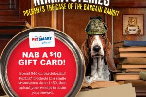 $10 Petsmart Gift Card with $40 in Participating Purina Products Purchase