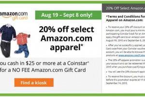 Coinstar Amazon Promotion