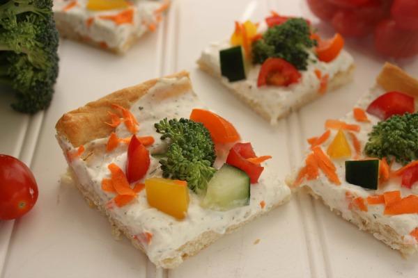 Cold Vegetable PIzza Recipe