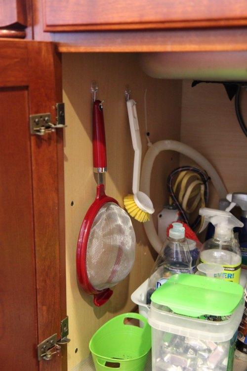 Command Hooks to Organize Under Kitchen Sink