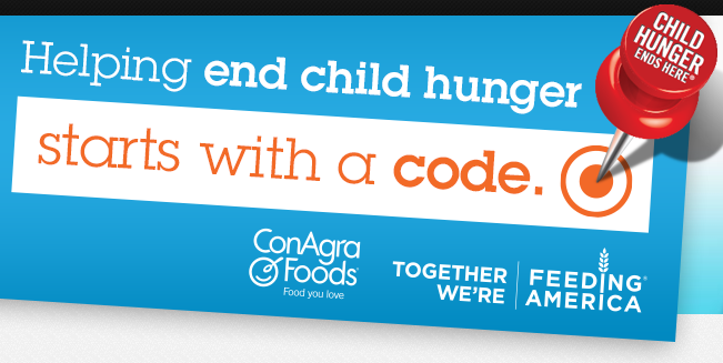 Conagra foods child hunger ends here
