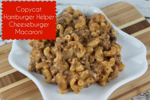 Copycat Hamburger Helper Cheeseburger Macaroni
