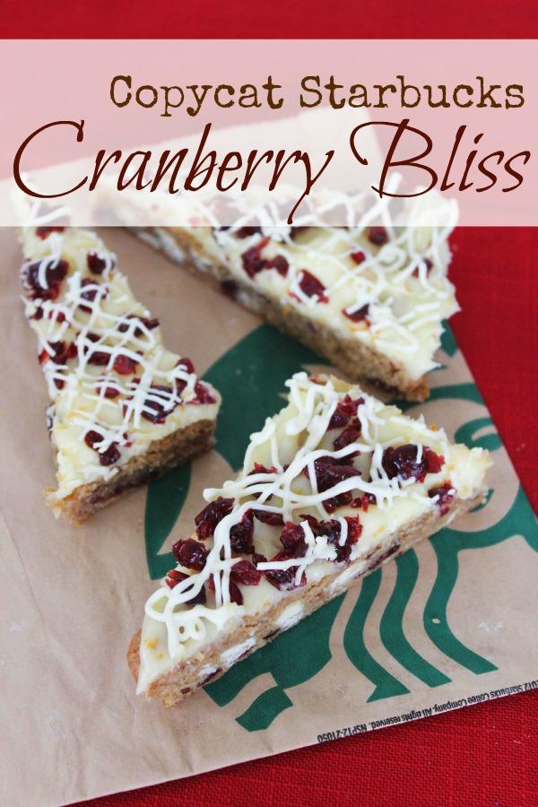 Copycat Starbucks Cranberry Bliss