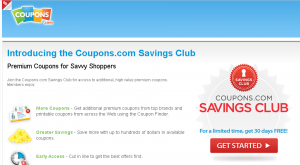Coupons.com Saving Club 300x165 Coupons.com Savings Club Monthly Subscription: Will You Pay for Coupons?