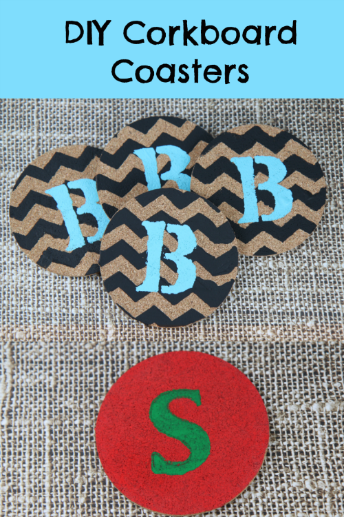 Diy painted cork board coasters bargainbriana for Creative coasters