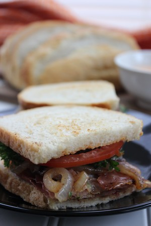 Crispy Prosciutto with Caramelized Onion Sandwich Recipe