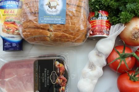 Crispy Prosciutto with Caramelized Onion Sandwich ingredients