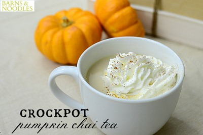 Crockpot Chai Tea BarnsandNoodles 2 50 Pumpkin Recipes to Try