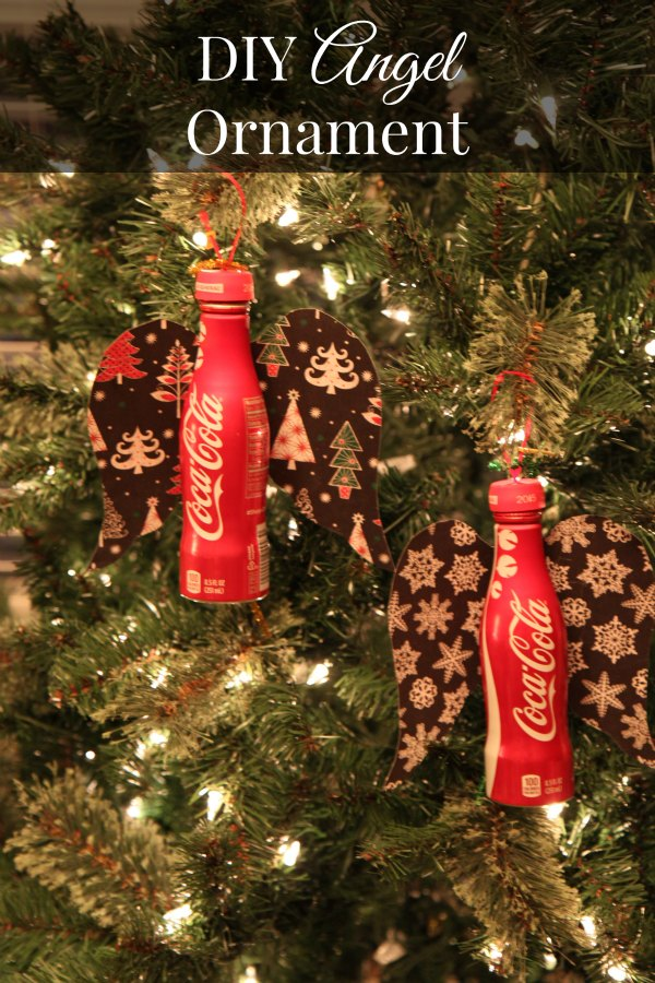 DIY Angel Coca-Cola Aluminum Bottle Christmas Ornament