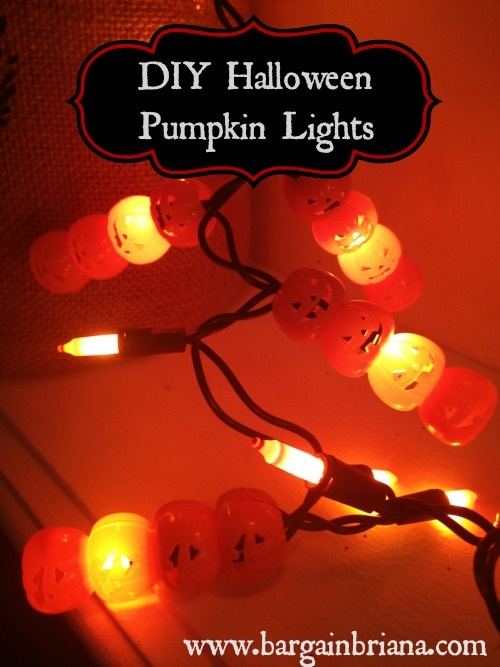 DIY Halloween Pumpkin Lights Dollar Store DIY: Pumpkin Lights