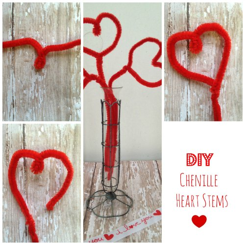 DIY Heart Stems Chenille