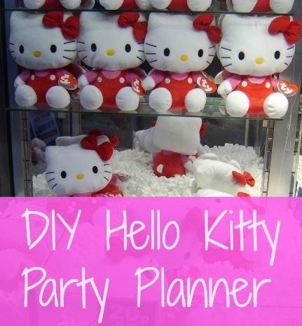 Diy Hello Kitty Birthday Party Planning Post Bargainbriana