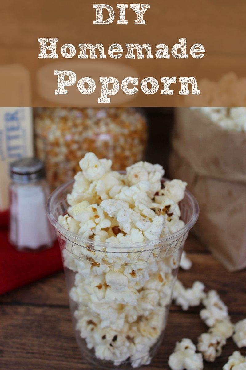 DIY Homemade Popcorn Instructions
