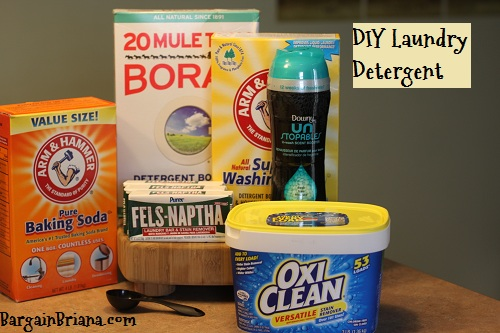 DIY Laundry Detergent Ingredients
