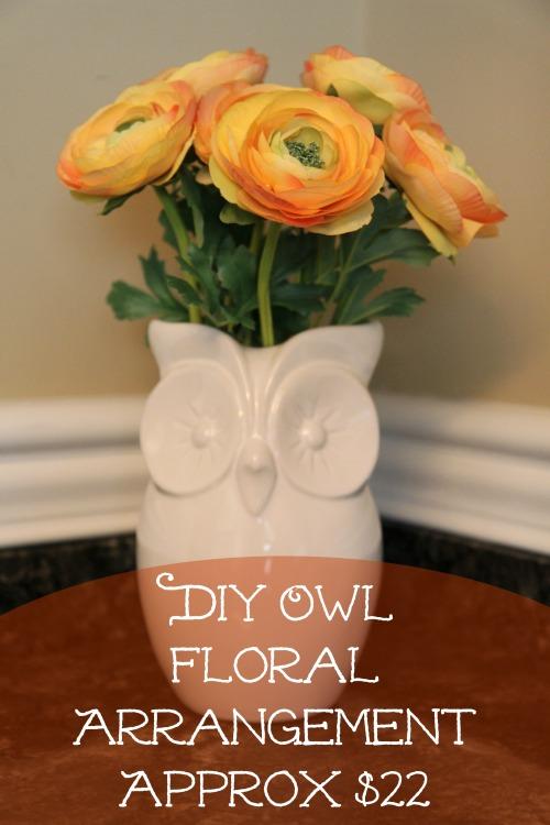 DIY Owl Floral Arrangement