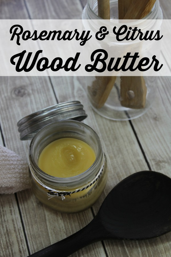 Make your own wood butter that is essentially a mixture of beeswax, coconut oil, and essential oils.  It is perfect for cutting boards, utensils, and furniture.