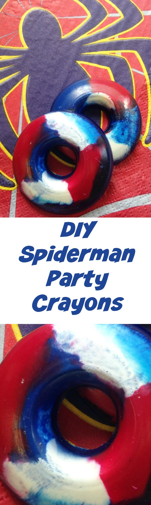 DIY Spiderman Party Crayons How To Make