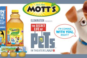 Purchase 5 Qualifying Mott's® Products, Earn a The Secret Life of Pets Movie Ticket