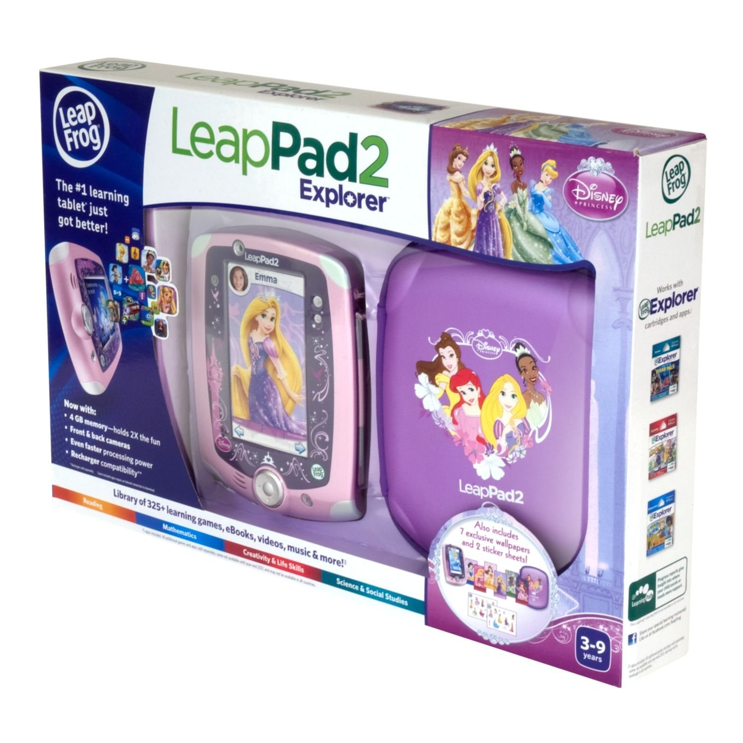 Disney Princess LeapFrog LeapPad2 Explorer Kids' Learning Tablet Bundle