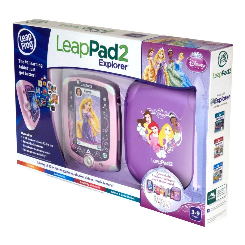 Disney Princess LeapFrog LeapPad2 Explorer Kids' Learning Tablet Bundle