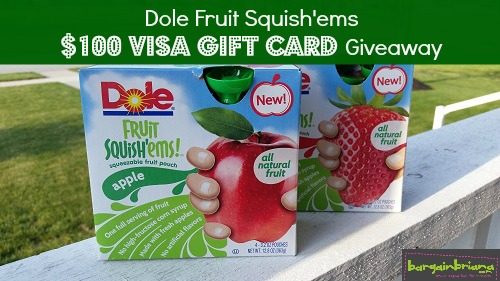 Dole Squish'ems Visa Gift Card Giveaway